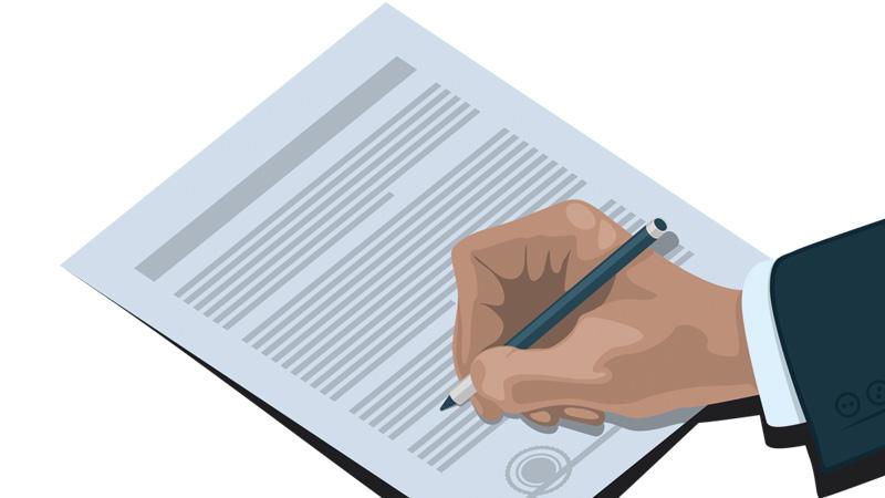 Signature de l'acte notarié